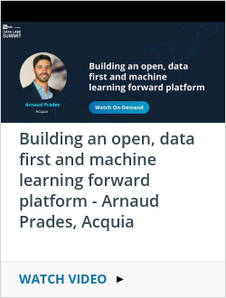 Building an open, data first and machine learning forward platform - Arnaud Prades, Acquia