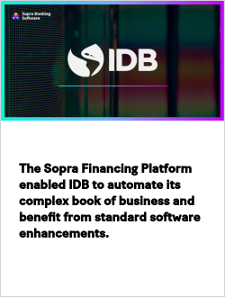 The Sopra Financing Platform enabled IDB to automate its complex book of business and benefit from standard software enhancements.