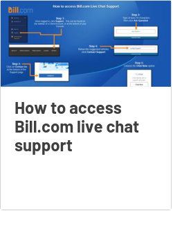 How to access Bill.com live chat support