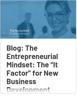 """Blog: The Entrepreneurial Mindset: The """"It Factor"""" for New Business Development Growth"""