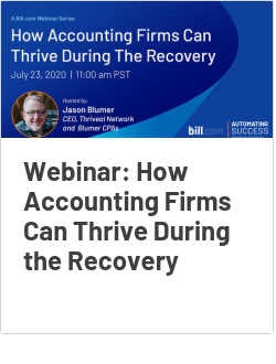 Webinar: How Accounting Firms Can Thrive During the Recovery