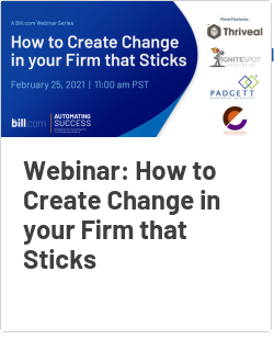 Webinar: How to Create Change in your Firm that Sticks