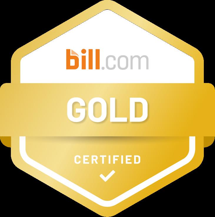 Bill.com Accountant Partner Program - Certified Gold Partner