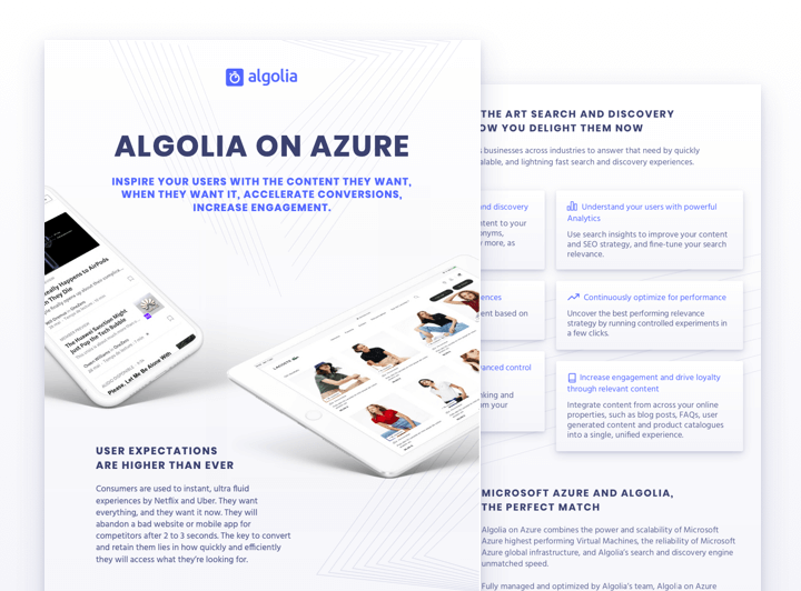 illustration for: 'Algolia on Azure (for Algolia customers)'""