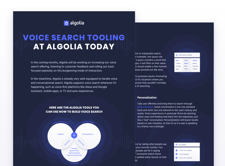 How to use Algolia Voice Search