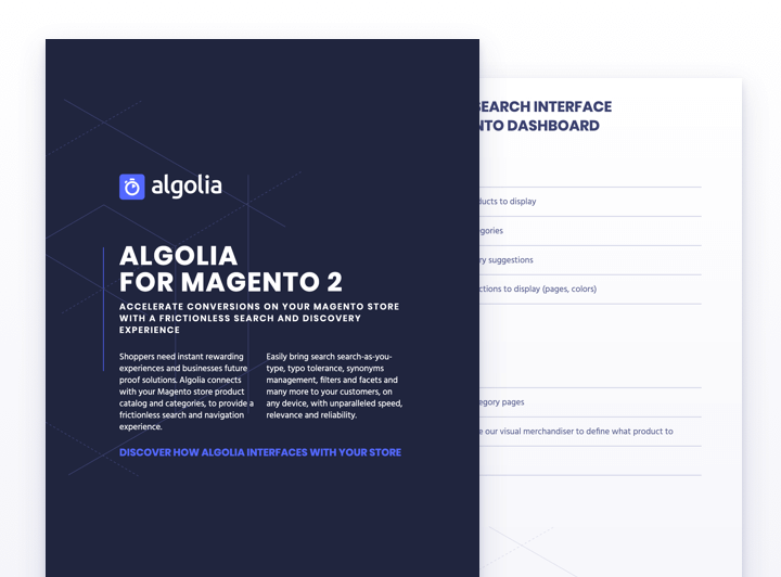 Algolia for Magento