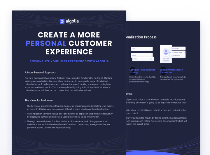 How to use Algolia personalization for ecommerce