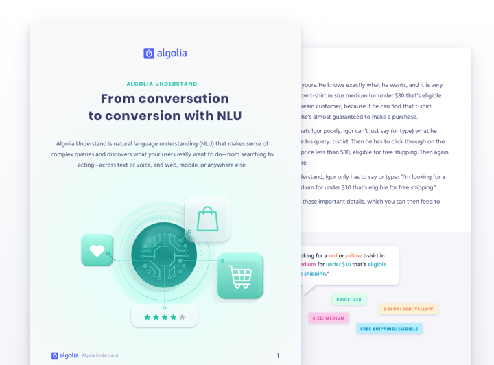 Algolia Understand: from conversation to conversion with NLU