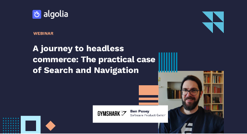 """illustration for: 'Gymshark's journey to headless commerce: The practical case of Search and Navigation'"""""""