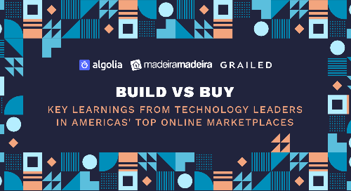 illustration for: 'Build vs. Buy: Key learnings from tech leaders of America's top online marketplaces'""