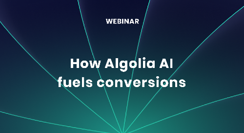 illustration for: 'How Algolia AI fuels conversions'""