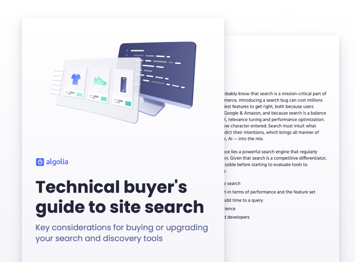 illustration for: 'Technical buyer's guide to site search'""