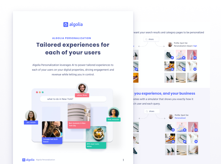 Personalization: tailored experiences for each of your users