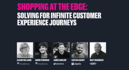 "illustration for: 'Shopping at the edge: Solving for infinite customer experience journeys.'"""
