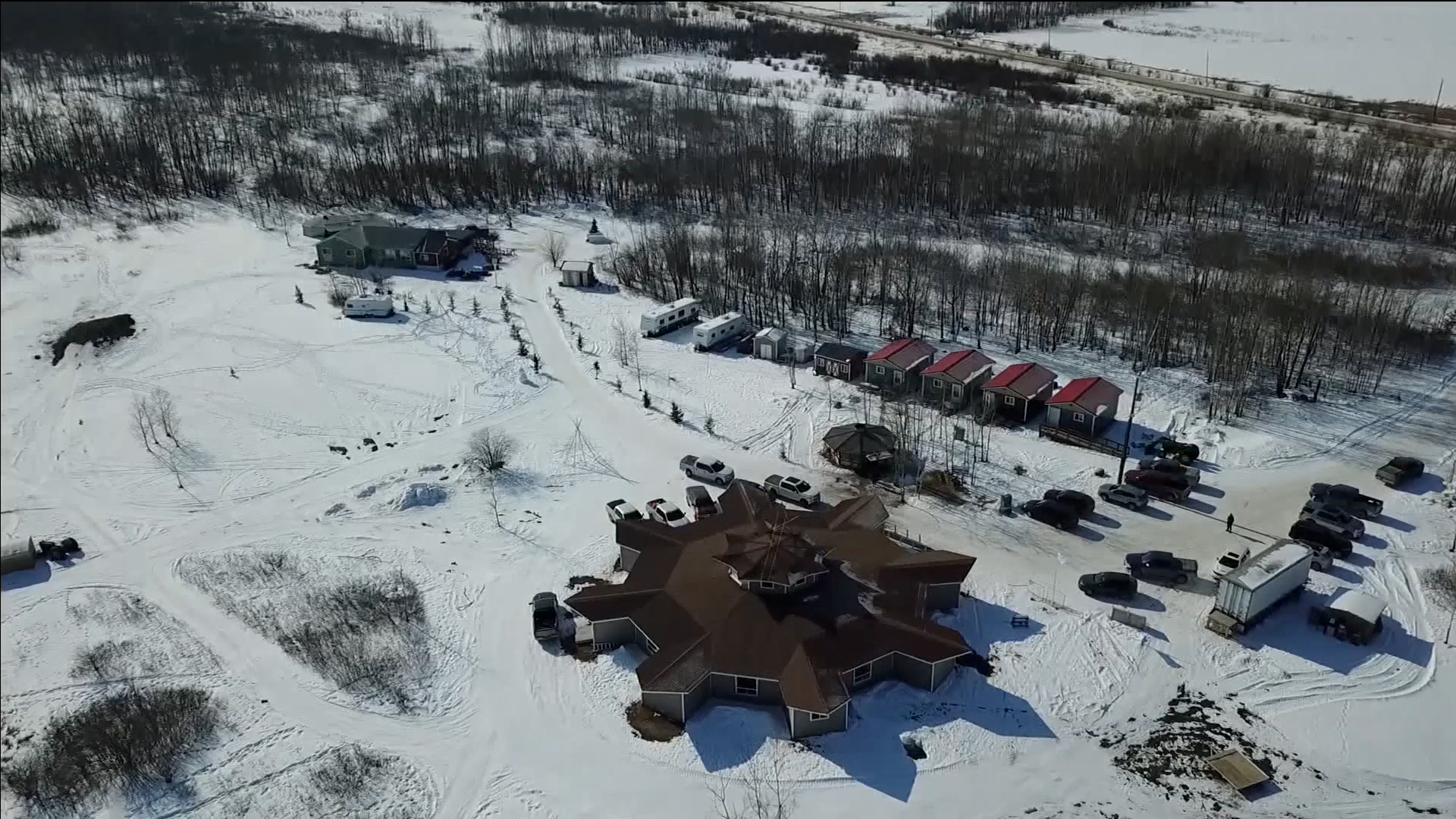 Aerial image of Peguis First Nations community