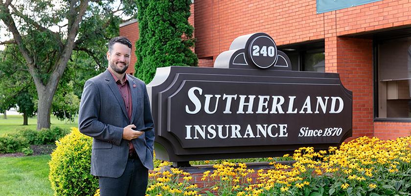Zac Sutherland, vice-président de Sutherland Insurance