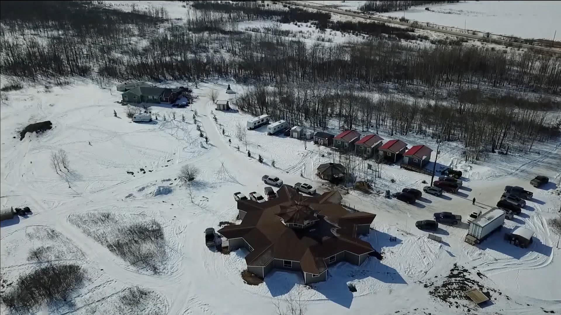 Image aérienne de la communauté des Premières nations de Peguis