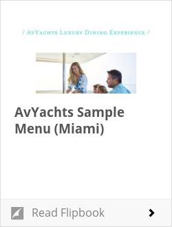 AvYachts Sample Menu (Miami)