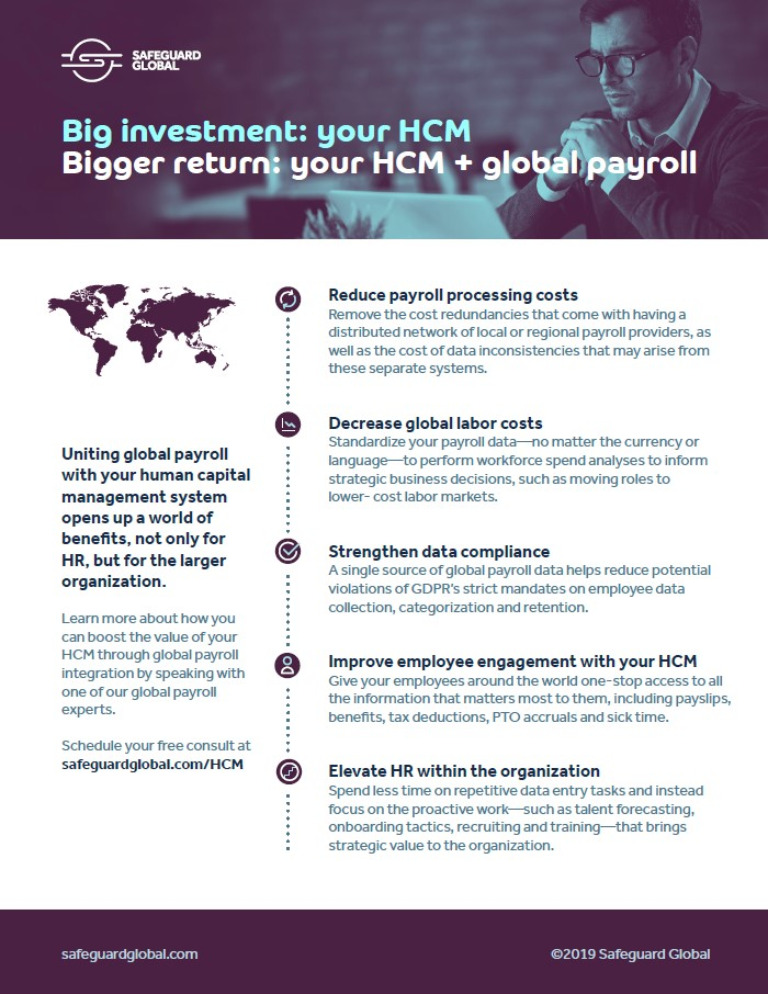 Global payroll and HCM integration