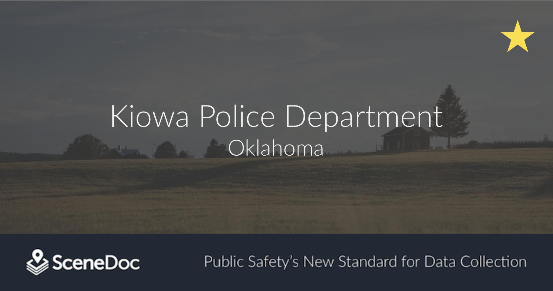Kiowa Police Department Innovates with SceneDoc eCitations