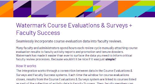 Course Evaluations & Surveys + Faculty Success Flyer