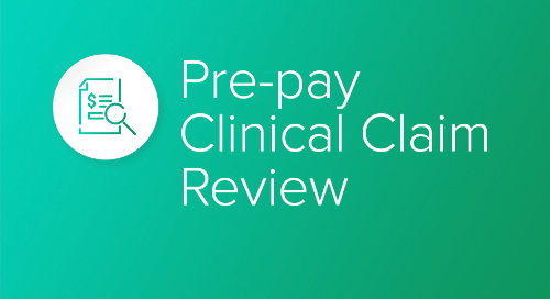 Pre-pay Clinical Claim Review