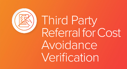 Third Party Referral for Cost Avoidance Verification