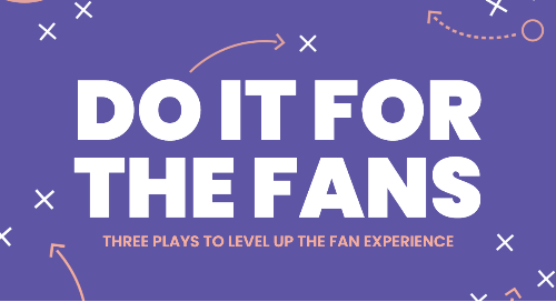 Do It For The Fans: Three Plays to Level Up the Fan Experience