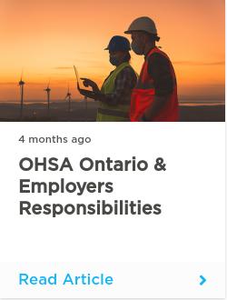 OHSA Ontario & Employers Responsibilities