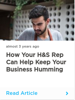How your H&S rep can help keep your business humming