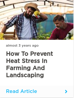 How to prevent heat stress in farming and landscaping