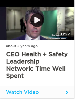 CEO Health + Safety Leadership Network: Time well spent