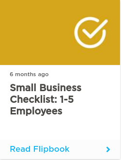 Small Business Checklist: 1-5 employees