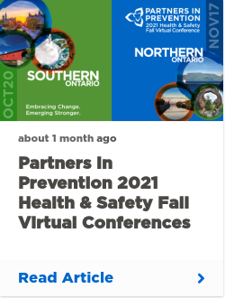 Partners in Prevention 2021 Health & Safety Fall Virtual Conference | Southern Ontario