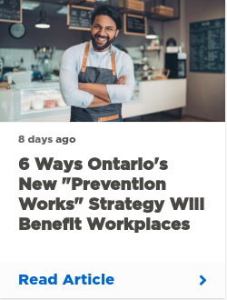 """6 ways Ontario's new """"Prevention Works"""" strategy will benefit workplaces"""
