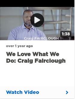 We love what we do: Craig Fairclough