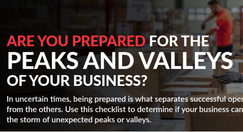 Are you prepared for peaks and valleys of your business [Checklist]