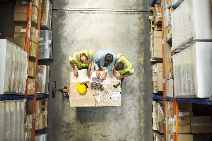 A staffing agency helping a client in a warehouse