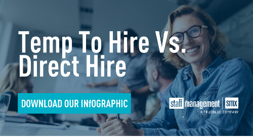 Temp To Hire Vs. Direct Hire Infographic