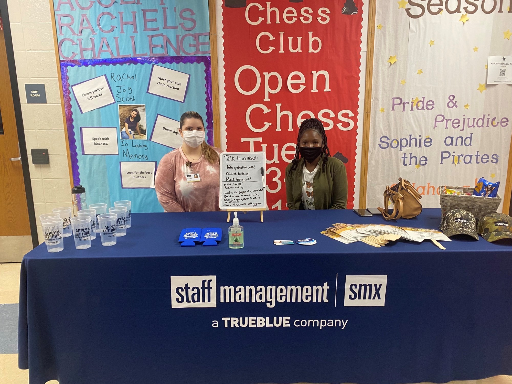 Staff Management | SMX recruiters visited Jeffersonville High School to discuss future job opportunities