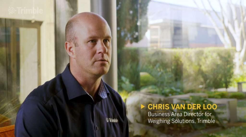 Chris van der Loo sitting for an interview