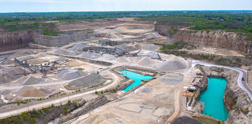 Aerial shot of quarry