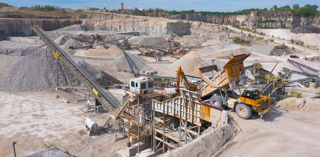quarry processing plant