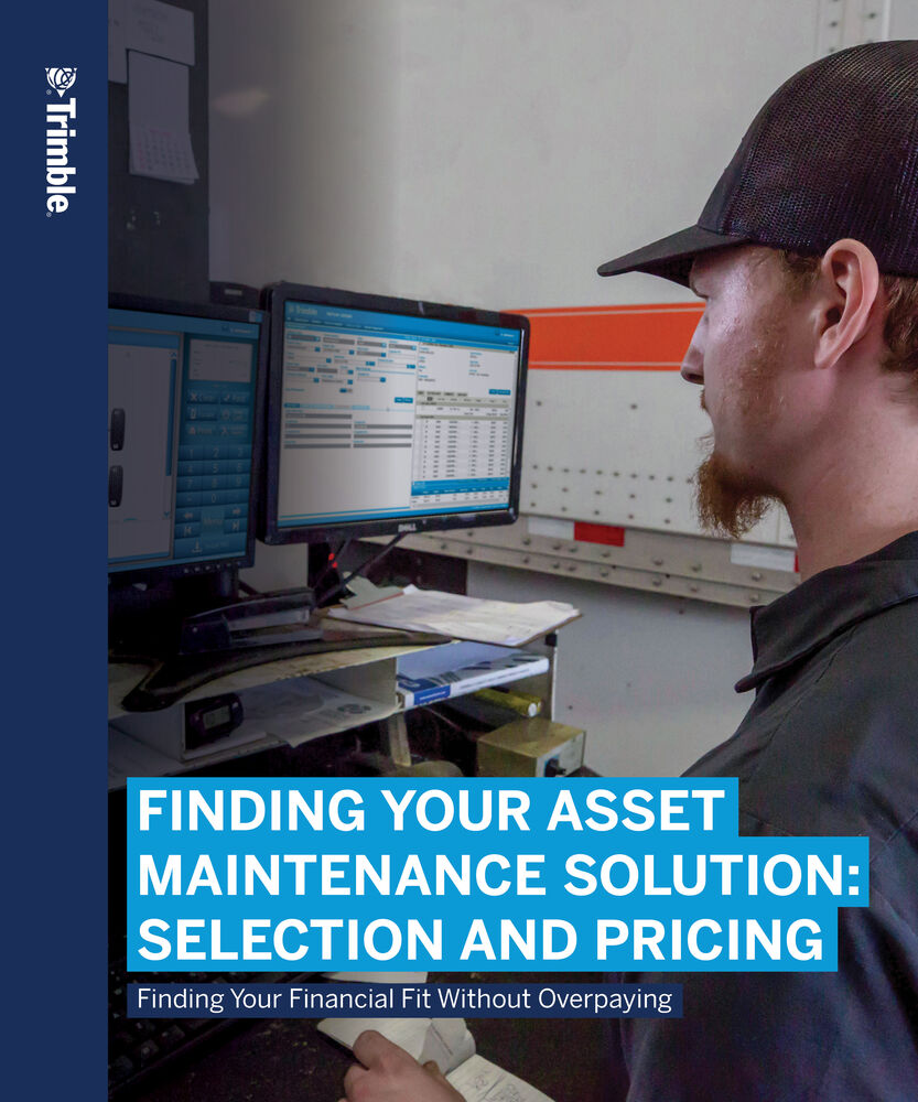 Finding Your Asset Maintenance Solution: Selection and Pricing
