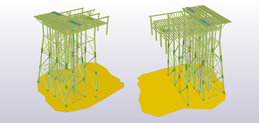 Tekla Structures model of Leman Alpha ICCP Project located in North Sea