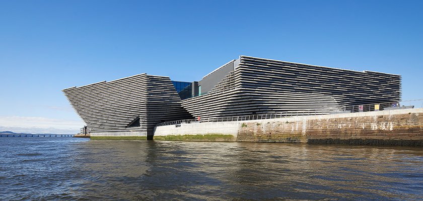 V&A Dundee on the banks of the River Tay