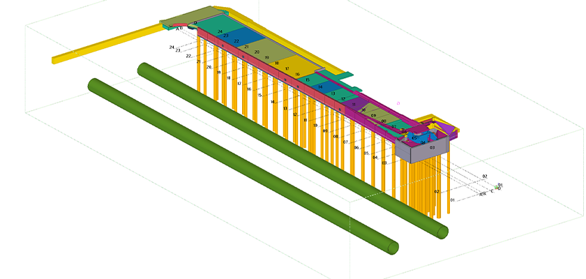 3D BIM model of Water Street Bridge