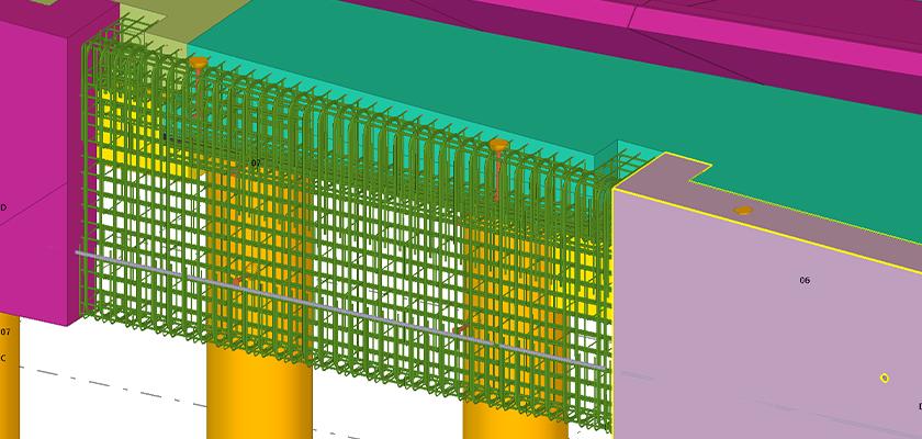 Tekla Structures concrete reinforcement detailing