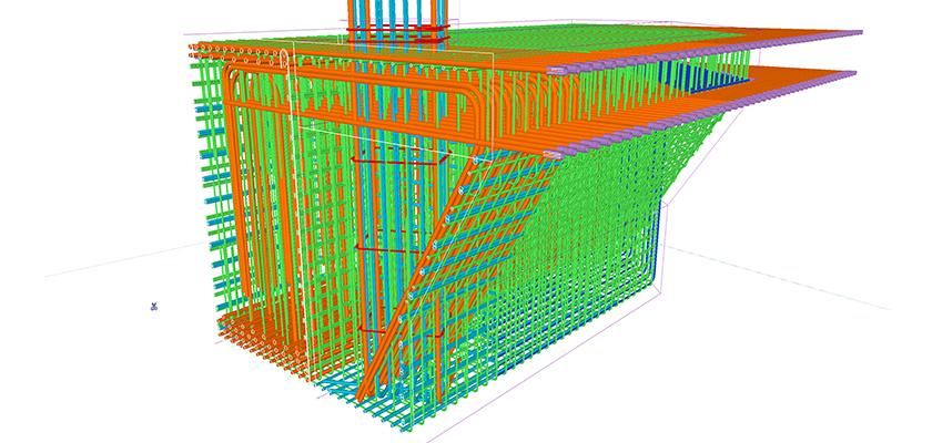 3D BIM model of One Nine Elms