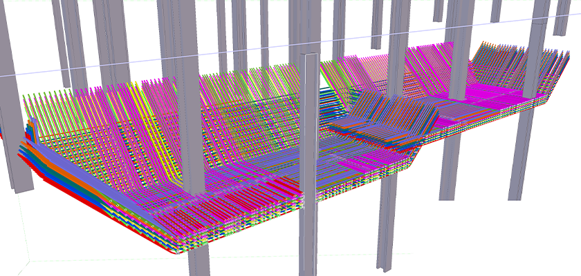 Model of plunge columns